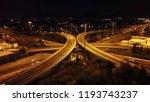aerial drone night high speed... | Shutterstock . vector #1193743237