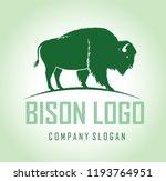Vector Brown Zubr Buffalo Biso...