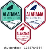 alabama vector labels with... | Shutterstock .eps vector #1193764954