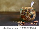 homemade granola from mix of... | Shutterstock . vector #1193774524