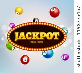 lottery jackpot bingo colorful... | Shutterstock .eps vector #1193775457