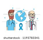 global doctors with stethoscope ...   Shutterstock .eps vector #1193783341