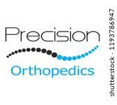 """precision orthopedics"" medical ... | Shutterstock .eps vector #1193786947"