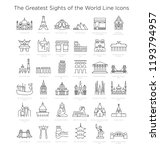 the greatest sights of the...   Shutterstock .eps vector #1193794957