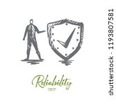 reliability  safety  protect ... | Shutterstock .eps vector #1193807581