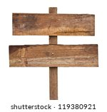 old wooden sign isolated on a... | Shutterstock . vector #119380921