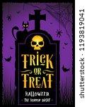 an illustration of halloween... | Shutterstock .eps vector #1193819041