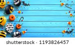 halloween wood background with... | Shutterstock .eps vector #1193826457