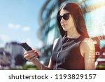 pretty brunette business woman... | Shutterstock . vector #1193829157