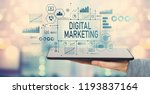 digital marketing with man... | Shutterstock . vector #1193837164