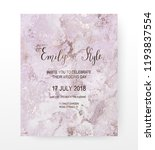 marble wedding invitation card... | Shutterstock .eps vector #1193837554