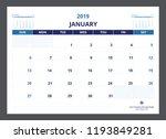 2019 calendar planner a5 size... | Shutterstock .eps vector #1193849281