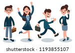 office worker in flat style... | Shutterstock .eps vector #1193855107