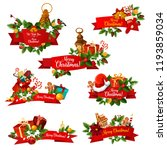 merry christmas best wishes... | Shutterstock .eps vector #1193859034
