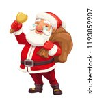christmas santa claus cartoon... | Shutterstock .eps vector #1193859907