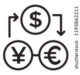 currency exchange process  also ... | Shutterstock .eps vector #1193862211