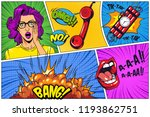 comic bright composition with... | Shutterstock .eps vector #1193862751