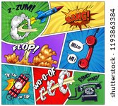 pop art colorful concept with... | Shutterstock .eps vector #1193863384