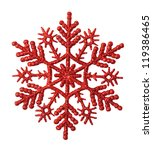 Red Snowflake On A White...