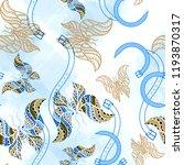 seamless pattern mixed design.... | Shutterstock . vector #1193870317