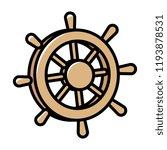 cartoon ship steering wheel | Shutterstock .eps vector #1193878531