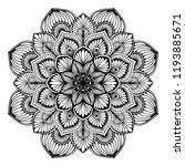 mandalas for coloring  book.... | Shutterstock .eps vector #1193885671