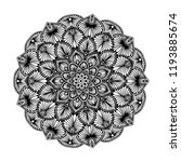 mandalas for coloring  book.... | Shutterstock .eps vector #1193885674