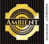 ambient shiny badge | Shutterstock .eps vector #1193890534