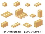 parcels carton boxes on... | Shutterstock .eps vector #1193892964