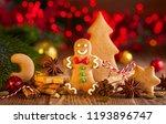 christmas homemade gingerbread... | Shutterstock . vector #1193896747