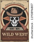 wild west retro poster for... | Shutterstock .eps vector #1193896807