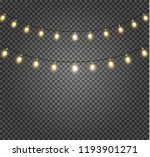 christmas lights isolated... | Shutterstock .eps vector #1193901271
