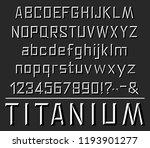 titanium font letters. vector...   Shutterstock .eps vector #1193901277