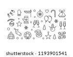 merry christmas horizontal... | Shutterstock .eps vector #1193901541