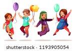 children of different... | Shutterstock .eps vector #1193905054