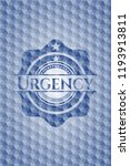 urgency blue badge with... | Shutterstock .eps vector #1193913811