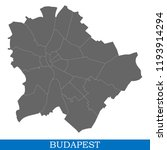 high quality map of budapest is ... | Shutterstock .eps vector #1193914294