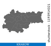 high quality map of krakow is a ... | Shutterstock .eps vector #1193914321