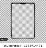 new realistic tablet pc... | Shutterstock .eps vector #1193914471