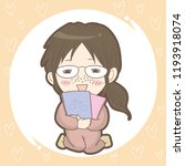 otaku girl image   japanese...   Shutterstock .eps vector #1193918074