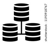 sql servers in hierarchy making ... | Shutterstock .eps vector #1193918767