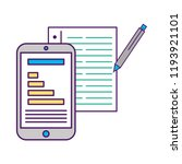 smartphone program  document pen   Shutterstock .eps vector #1193921101