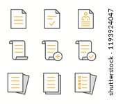 document flat line icons. set... | Shutterstock .eps vector #1193924047