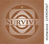 survive wood emblem. retro | Shutterstock .eps vector #1193929267
