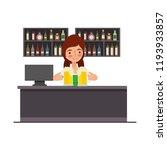 bavarian woman behind bar... | Shutterstock .eps vector #1193933857