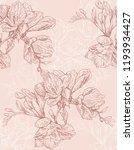 hand drawn watercolor flower... | Shutterstock . vector #1193934427