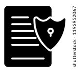 document with safety shield... | Shutterstock .eps vector #1193952067