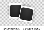 retro realistic photo frame.... | Shutterstock .eps vector #1193954557