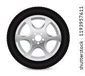 alloy wheel with tyre. vector... | Shutterstock .eps vector #1193957611