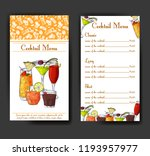 cocktail discount voucher for... | Shutterstock .eps vector #1193957977